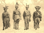 Kashmir Rifles Soldiers - Sepia Background