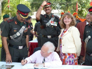 The Author, Andrew Kerr, Book Signing with the Jammu & Kashmir Rifles - Nov 2010